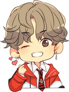 Read EXTRA - END from the story [Fanfic BTS ] [VMin] Tôi là gì trong tim anh by Ginbts (Gin) with reads. Bts Chibi, Anime Chibi, Chibi Goku, Bts Anime, Chibi Hair, Bts Kawaii, Anime Kawaii, Fanart Bts, Taehyung Fanart