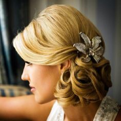 side curly prom hairstyle