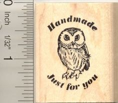 Handmade Just for You Owl Rubber Stamp *** Find out more about the great product at the image link.