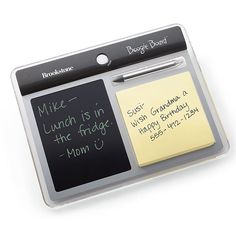 Erasable LCD screen with notepad.