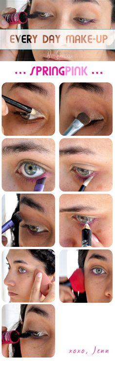 Maquillage// SpringPink - www.bleuelectrique.fr