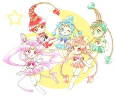 Sailor Chibimoon and the Amazon Quartet (Sailor Para Para, Sailor Cere Cere, Sailor Jun Jun & Sailor Ves Ves)