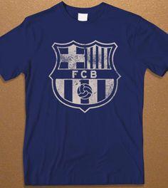 FCB Logo Men's Tshirt FC Barcelona logo Men's Tshirt by davvos, $17.99
