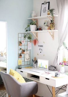 Home Office Design, Home Office Decor, Home Design, Home Decor, Interior Office, Interior Ideas, Interior Design, Bedroom Desk, Room Ideas Bedroom