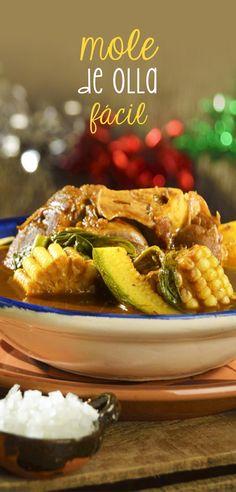 El mole de olla es una de las recetas tradicionales de la república mexicana. Es una preparación fácil de hacer, rápida y con un sabor incomparable. Disfrútala en compañía de tus seres queridos.