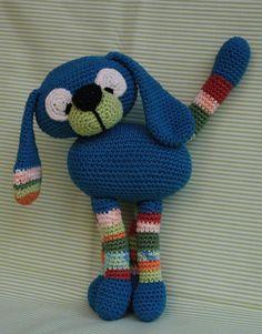 Amigurumi CRAZY DOG - pdf, crochet pattern. €4.00, via Etsy.