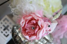 Another pretty floral headband with feathers