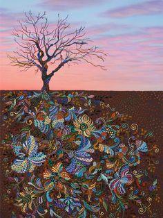 "Saatchi Online Artist: Erika Pochybova-Johnson; Acrylic, 2013, Painting ""Mindfulness"""