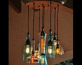 The Glendora - Recycled Bottle Light Chandelier