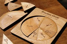 New portable math manipulative set for fractions. Precision cut from solid 1/8th inch alder wood, these fraction slices will not deform as foam and paper can and can last through multiple children. Fraction circles are one of our more popular math manipulative requests due to fractions being a topic and is incredibly important and a basis for later higher math, chemistry, physics, and general life. Getting the basics down is extremely important in setting a foundation for higher math ski...