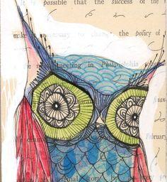 blue owl print by cori dantini