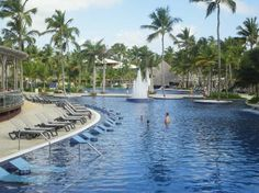Barcelo Bavaro Palace Deluxe: Pool w/ built-in loungers.  Definitely want to go here!