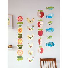 petit collage paper flower hanging garland mobile