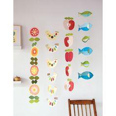 petit collage paper flower hanging garland mobile