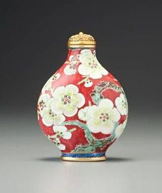 Cloisonne snuff bottle - Qing