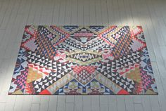 """LOVE LOVE LOVE these artist editioned """"rugs"""" by the lovely ladies at Domestic Construction."""