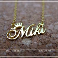 Custom Crown Name Necklace - Arsamas Necklace Price, Name Necklace, Arrow Necklace, Eyewear, Jewlery, Necklaces, Crown, Free Shipping, Silver