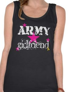 Military Girlfriend Mom Wife Fiance Shirt Army Navy Air Force Comfort Soft Shirt Black. $31.00, via Etsy.
