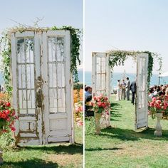 would still love to have some kinds opening to the isle  20 Inspiring Ideas for a Rustic, Romantic Wedding via Brit + Co.