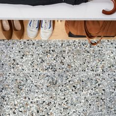 Chips 2.0 Macro Azur 8x8 Matte Porcelain Tile | Tilebar.com Outdoor Flooring, Outdoor Walls, Wall And Floor Tiles, Wall Tiles, Italian Pattern, Mid Century Modern Bathroom, Contemporary Tile, Mediterranean Tile, Commercial Flooring