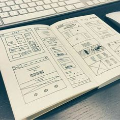 Notebook full of wireframes from @wearelightmaker via @humble_ux  Tag a friend  comment and follow @humble_ux  for more . #apple #digital #interface #mobile #design #application #ui #ux #webdesign #app #userinterface #photoshop #userexperience #inspiration #materialdesign #uxdesignmastery #creative #dribbble #time #behance #appdesign #sketch #designer #website #programming #art #work #concept #amazing #uxdesigning