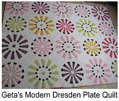 Geta's Dresden Plate - I just love this modern twist on an old school block.