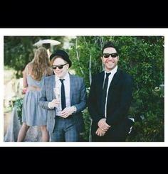 Pete and Patrick at Brendon's wedding