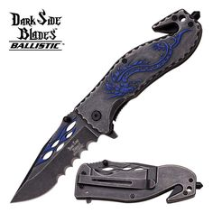 Swords of Might - DARK SIDE BLADES BLUE TRIBAL DRAGON KNIFE, $7.99 (http://www.swordsofmight.com/dark-side-blades-blue-tribal-dragon-knife/)