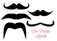 Today's download: free printable mustache! Well, many mustaches because everyone loves a mustache. The sheet contains 5 different types of mustaches that can be printed and cut out then used for whatever you want. What can you use a printable mustach
