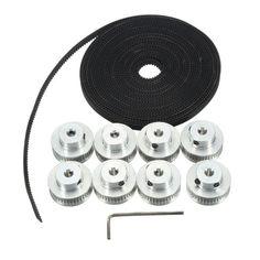 8Pcs GT2 Pulley 40 Teeth 5mm Bore 5M Belt For 3D Printer RepRap Prusa