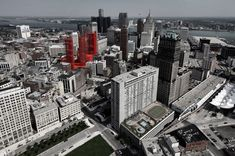 'Redesigning Detroit: A New Vision for an Iconic Site' Winning Proposal,Courtesy of Davide Marchetti Architetto