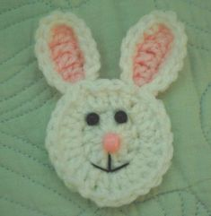 Aplique de Coelho da Páscoa em Crochê - /   Apply in Easter of Rabbit to Crochet -