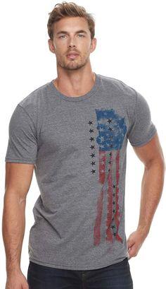 45a98b3a6 Men's Apt. 9 Abstract American Flag Graphic Tee #ad #MensFashion #TeeShirt  Texture