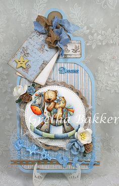 Het kaartenhoekje van Gretha Baby Scrapbook, Scrapbook Cards, Karten Diy, Baby Invitations, Beautiful Handmade Cards, Baby Shower Cards, Scrapbooking, Baby Crafts, Baby Bottles
