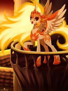 #1462736 - alicorn, a royal problem, artist:momomistress, daybreaker, fangs, female, mare, open mouth, pony, raised hoof, safe, solo, spoiler:s07e10 - Derpibooru - My Little Pony: Friendship is Magic Imageboard