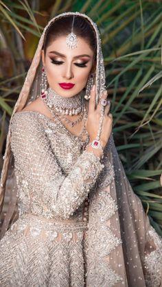 Asian Bridal Dresses, Asian Wedding Dress, Indian Bridal Outfits, Wedding Dresses For Girls, Pakistani Wedding Dresses, Wedding Outfits, Bridal Gowns, Pakistani Bridal Makeup, Pakistani Fashion Party Wear
