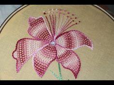Hand Embroidery Designs | Net stitch design - YouTube
