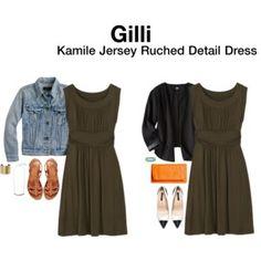Gilli Kamile Jersey Ruched Detail Dress