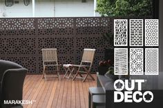 OUTDECO Garden Screens Marakesh