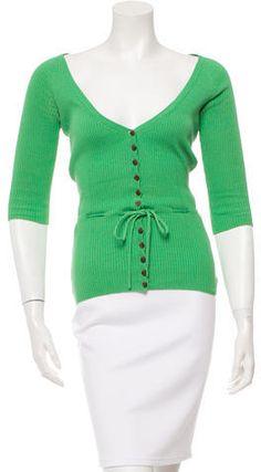 Diane von Furstenberg Rib Knit Silk Top