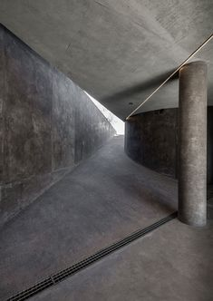 Concrete, angles, curves, light/shadows - what else could you ask for? House in Sikamino via Dezeen