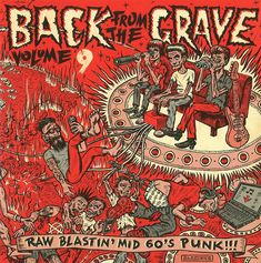 Zombie Garage Punks Never Die: Why a Compilation of 60s Teenaged Rage Is the Best Album of the Year  #punk #music #illustration