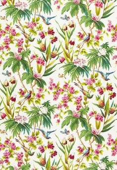 Fabric Patterns Seychelles Ivory 175701 by Schumacher Fabric Print Happy Cotton USA - H: V: 54 - Fabric Carolina - Schumacher - Overview Details Shipping Drapery Fabric, Fabric Decor, Fabric Design, Pattern Design, Document Printing, Pattern Names, Lettering, Schumacher, Fabric Wallpaper