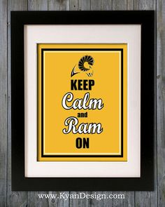Virginia Commonwealth University  Keep Calm and Ram On by KyanDesign, $9.95