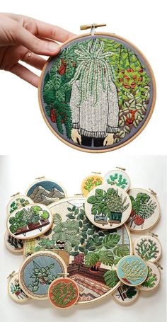 Contemporary embroidery by Sarah K. Benning #hoopart #embroidery