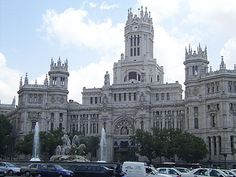 The Plaza de Cibeles, Madrid, Spain--i could potentially go here this summer!