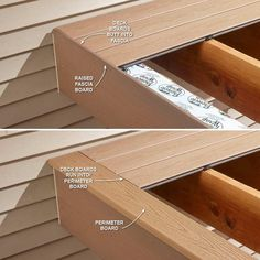 Hide Ugly Deck Board Ends - 16 Modern Deck Building Tips and Shortcuts: http://www.familyhandyman.com/decks/modern-deck-building-tips-and-shortcuts#6