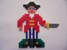 Pirate Captain / hama perler beads / Bügelperlen