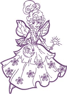 Tooth Fairy Free Embroidery Design