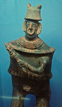 Pottery scupture of a warrior from western Mexico. Rufino Tamayo Museum of Oaxaca collection